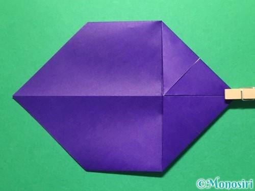折り紙で立体的な金魚の折り方手順7