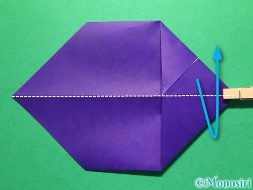 折り紙で立体的な金魚の折り方手順8