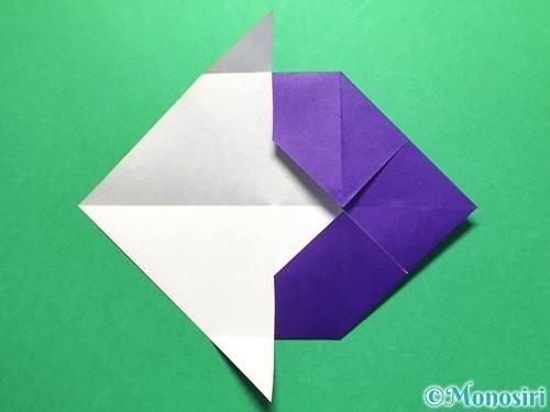 折り紙で立体的な金魚の折り方手順16