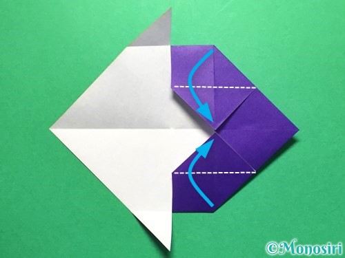 折り紙で立体的な金魚の折り方手順17