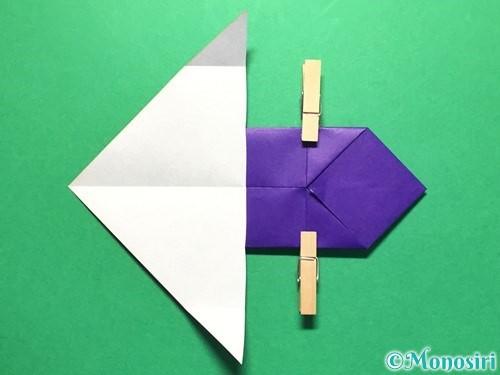 折り紙で立体的な金魚の折り方手順18