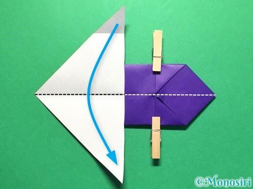 折り紙で立体的な金魚の折り方手順19