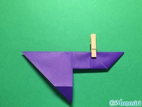 折り紙で立体的な金魚の折り方手順20