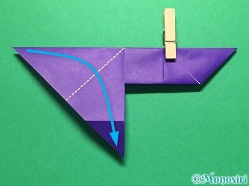 折り紙で立体的な金魚の折り方手順21