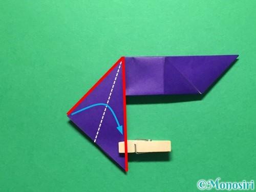 折り紙で立体的な金魚の折り方手順23