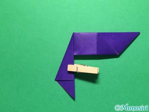 折り紙で立体的な金魚の折り方手順24