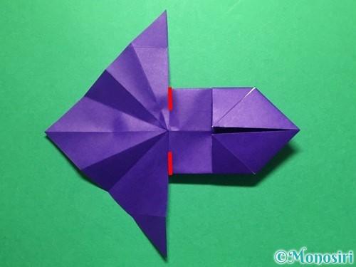 折り紙で立体的な金魚の折り方手順26