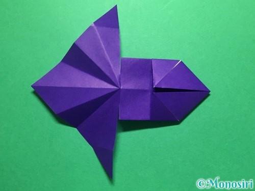 折り紙で立体的な金魚の折り方手順27
