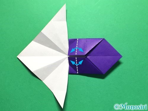 折り紙で立体的な金魚の折り方手順31
