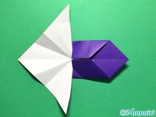 折り紙で立体的な金魚の折り方手順30