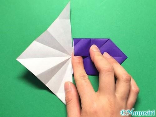 折り紙で立体的な金魚の折り方手順32