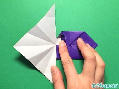 折り紙で立体的な金魚の折り方手順33