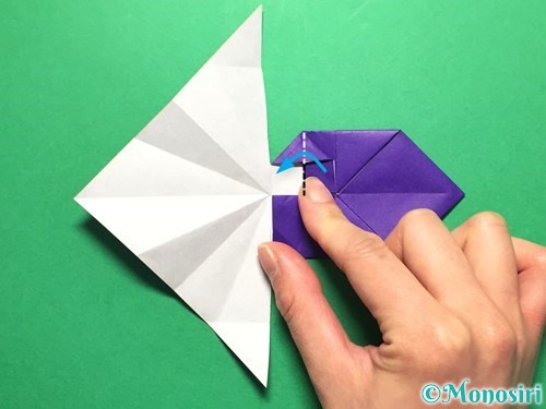 折り紙で立体的な金魚の折り方手順35
