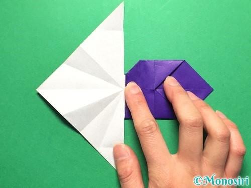 折り紙で立体的な金魚の折り方手順36