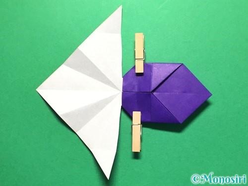 折り紙で立体的な金魚の折り方手順37