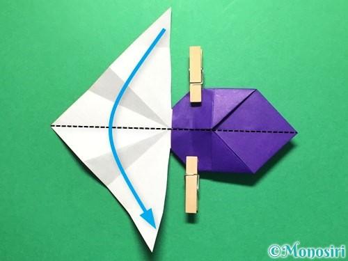 折り紙で立体的な金魚の折り方手順38