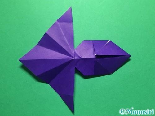 折り紙で立体的な金魚の折り方手順43