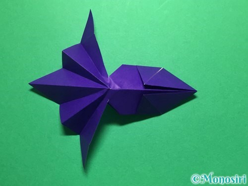 折り紙で立体的な金魚の折り方手順45