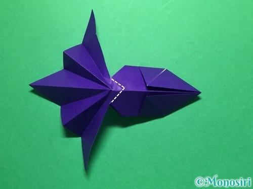折り紙で立体的な金魚の折り方手順46