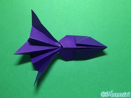 折り紙で立体的な金魚の折り方手順47