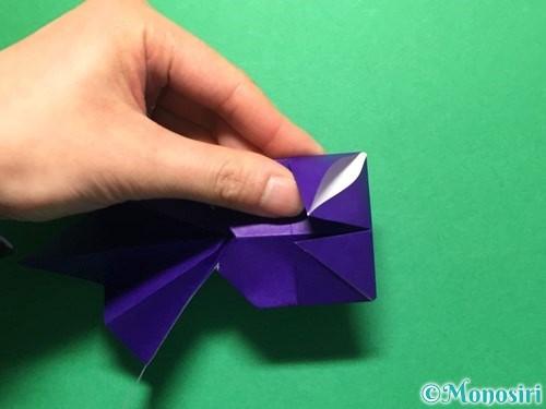 折り紙で立体的な金魚の折り方手順51
