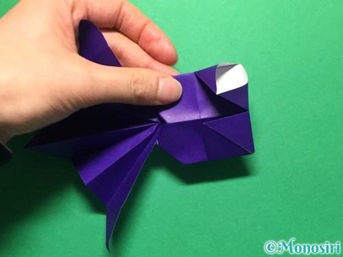 折り紙で立体的な金魚の折り方手順52