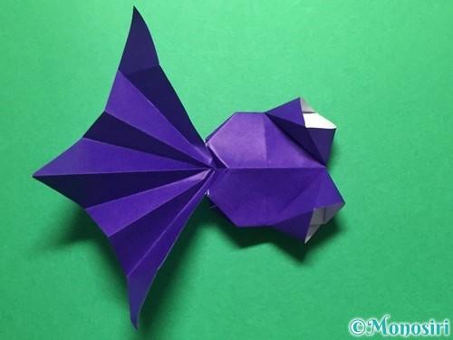 折り紙で立体的な金魚の折り方手順53