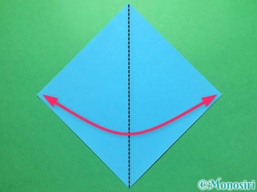 折り紙でうちわの折り方手順1