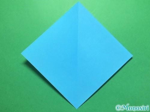 折り紙でうちわの折り方手順2