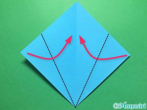 折り紙でうちわの折り方手順3