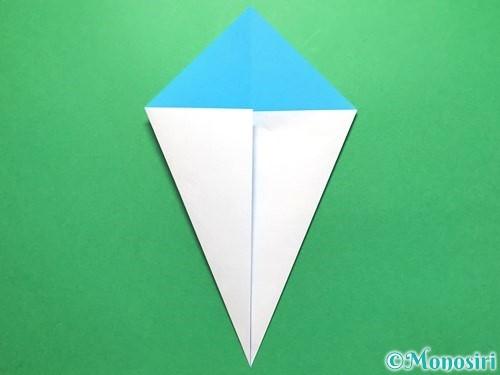 折り紙でうちわの折り方手順4