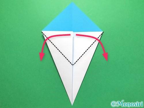 折り紙でうちわの折り方手順5
