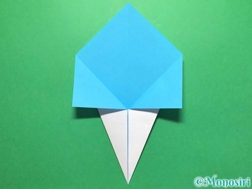 折り紙でうちわの折り方手順6