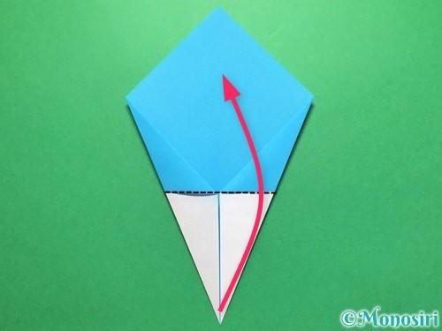 折り紙でうちわの折り方手順9