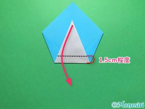 折り紙でうちわの折り方手順11