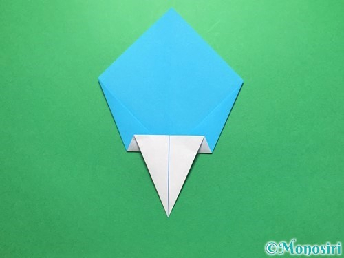 折り紙でうちわの折り方手順12