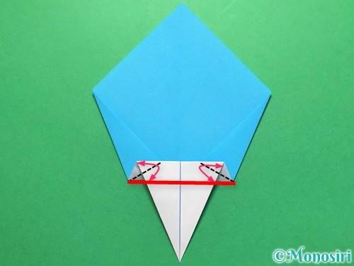折り紙でうちわの折り方手順13