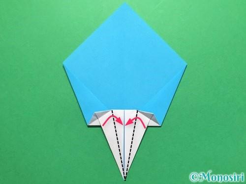 折り紙でうちわの折り方手順15