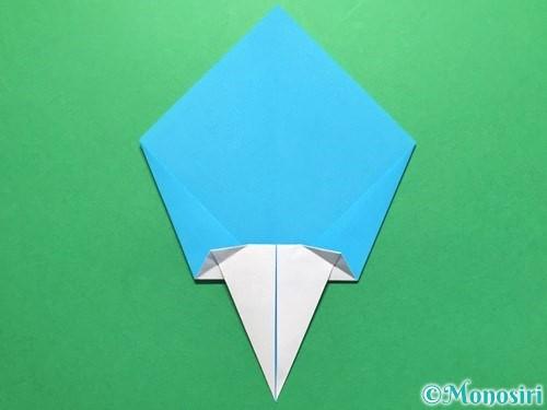 折り紙でうちわの折り方手順14