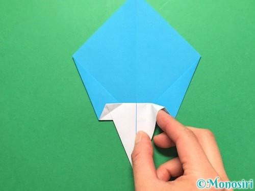 折り紙でうちわの折り方手順16