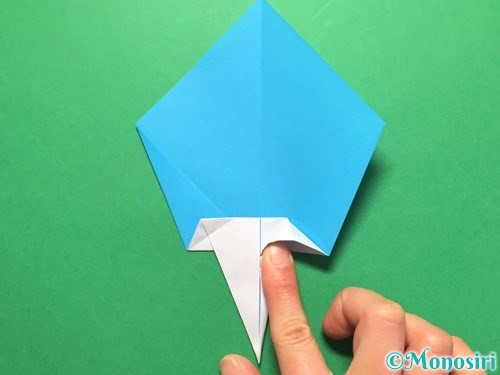 折り紙でうちわの折り方手順17