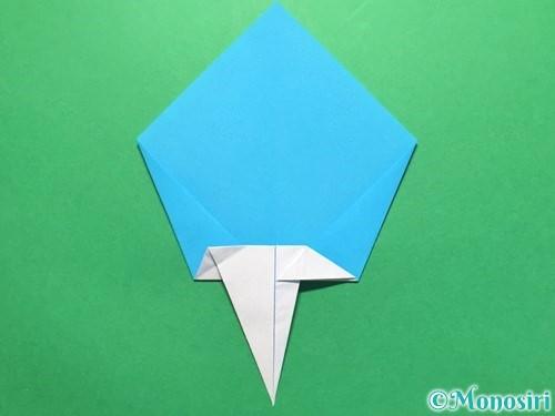 折り紙でうちわの折り方手順18