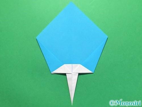 折り紙でうちわの折り方手順19