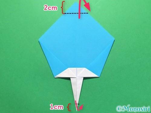 折り紙でうちわの折り方手順20