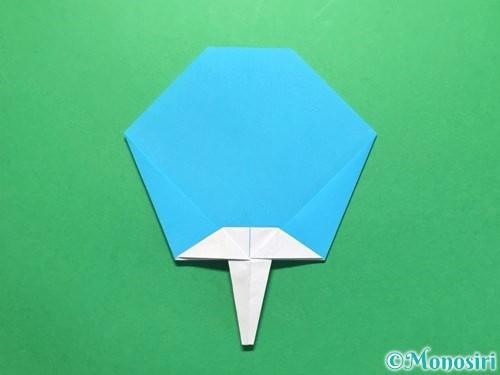 折り紙でうちわの折り方手順21
