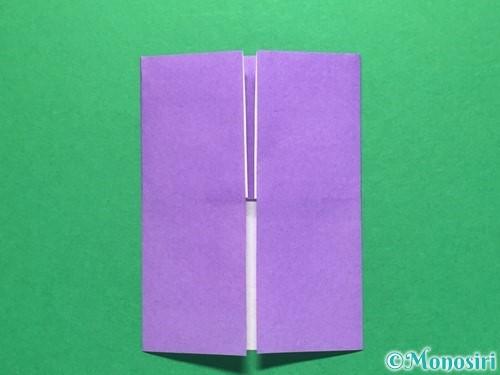 折り紙で扇子の折り方手順6
