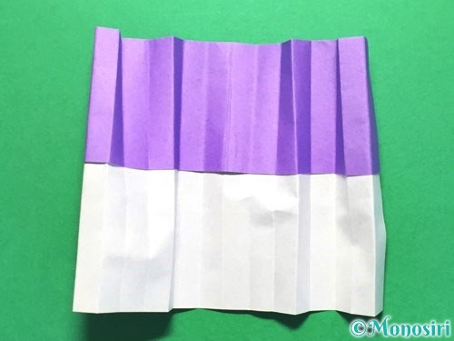 折り紙で扇子の折り方手順11