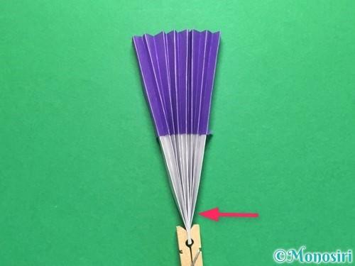 折り紙で扇子の折り方手順13