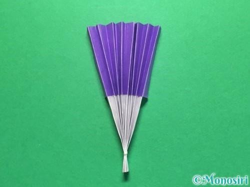 折り紙で扇子の折り方手順14