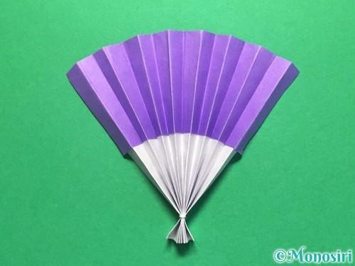 折り紙で扇子の折り方手順15